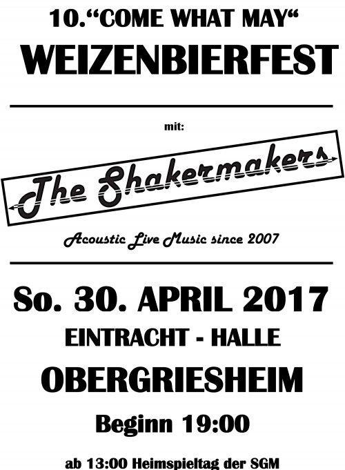 "10.''COME WHAT MAY"" WEIZENBIERFEST"
