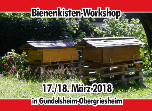 Bienenkisten-Workshop 2018